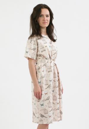 Платье Monoroom. Цвет: розовый