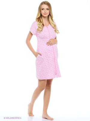 Халат женский для беременных и кормящих Hunny Mammy. Цвет: розовый