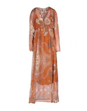 Длинное платье PINK MEMORIES. Цвет: коричневый