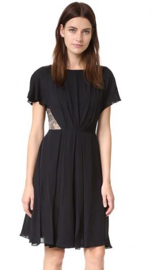 Платье из двойного шелка-жоржета. Jason Wu. Цвет: голубой