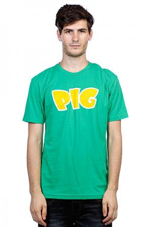 Футболка  Green Pig. Цвет: зеленый