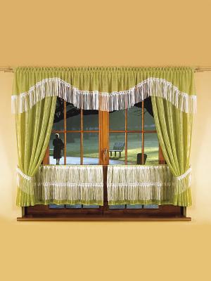 Комплект штор Wisan. Цвет: зеленый