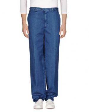 Джинсовые брюки AQUASCUTUM. Цвет: синий