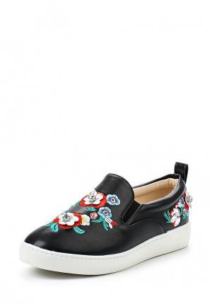 Слипоны Sweet Shoes. Цвет: черный