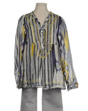 Блузка CUSTO GROWING. Цвет: желтый
