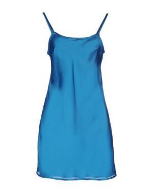 Короткое платье BEA. Цвет: лазурный