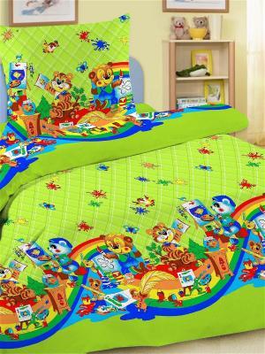 Комплект в кроватку Letto Ясли BGR-27, простыня на резинке. Цвет: зеленый