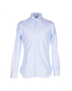 Pубашка BARBA NAPOLI. Цвет: небесно-голубой
