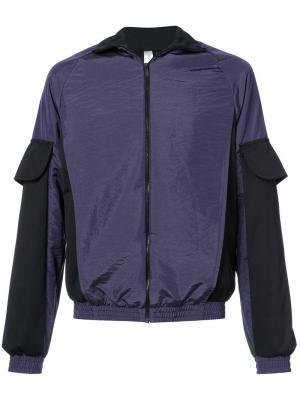 Куртка-бомбер в стиле колор блок Cottweiler. Цвет: розовый и фиолетовый