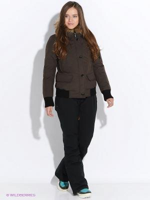 Куртка SNOWIMAGE. Цвет: коричневый