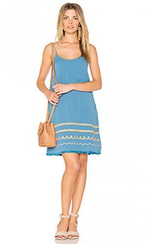 Платье-комбинация celine PIPER. Цвет: бирюзовый