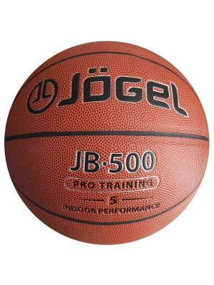 Мяч баскетбольный Jogel JB-500 №5. Цвет: коричневый