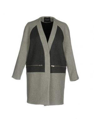 Пальто ELEVEN PARIS. Цвет: светло-серый