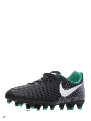 Бутсы MAGISTA OLA II FG Nike. Цвет: черный, белый, серый