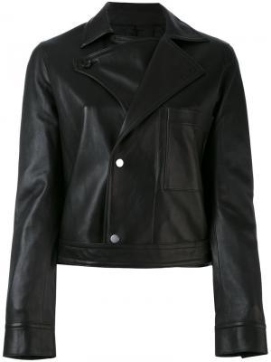 Куртка на кнопках Helmut Lang. Цвет: чёрный