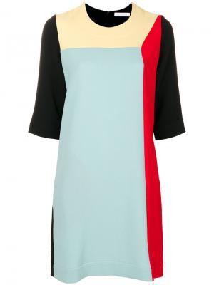 Платье колор блок Peter Jensen. Цвет: многоцветный