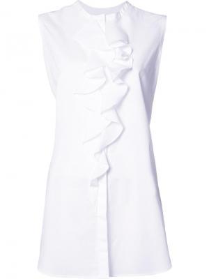 Рубашка Sleeveless Open Back Tie Tome. Цвет: белый