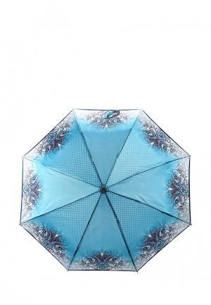 Зонт складной Fabretti. Цвет: бирюзовый