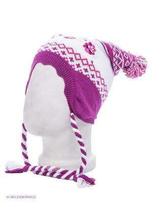 Шапка PlayToday. Цвет: розовый, белый, малиновый, бежевый