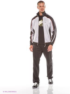 Спортивный костюм ADDIC. Цвет: светло-серый, черный