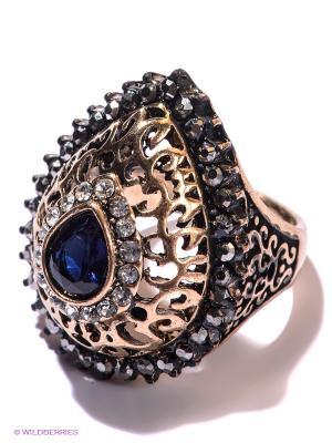 Кольцо Lovely Jewelry. Цвет: золотистый, темно-синий