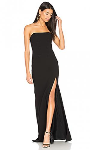 Вечернее платье без бретелек JILL STUART. Цвет: черный