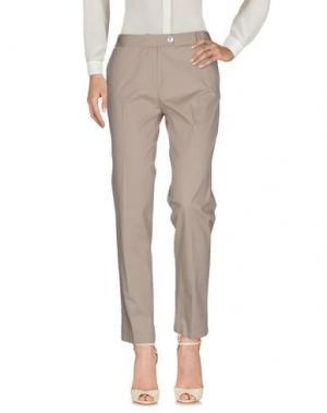 Повседневные брюки ANNECLAIRE. Цвет: голубиный серый