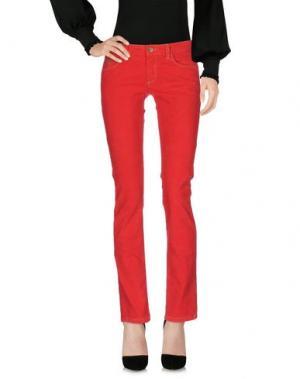 Повседневные брюки UNLIMITED. Цвет: красный
