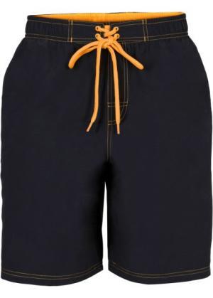 Мужские купальные шорты (черный) bonprix. Цвет: черный