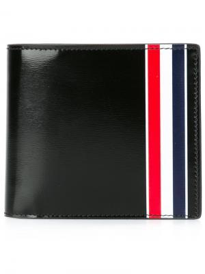 Бумажник с контрастными полосками Thom Browne. Цвет: чёрный