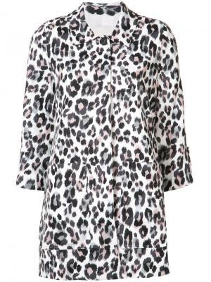Пальто с леопардовым принтом Joie. Цвет: белый