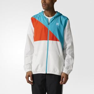 Ветровка Courtside  Originals adidas. Цвет: белый