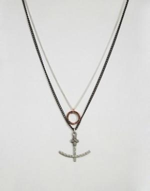 Icon Brand Ожерелье с подвесками. Цвет: золотой