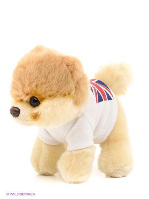 Игрушка мягкая Itty Bitty Boo In T-Shirt With British Flag Gund. Цвет: светло-бежевый, бежевый