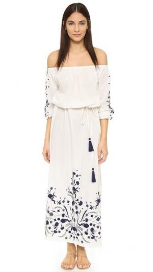 Макси-платье Grimaud PAMPELONE. Цвет: белый/синий