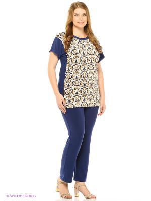 Комплект: футболка/брюки Milana Style. Цвет: синий