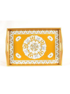 Эксклюзивный поднос ручной работы Blonder Home. Цвет: оранжевый