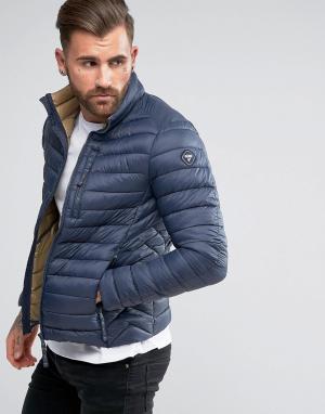 Puffa Короткая дутая куртка. Цвет: темно-синий