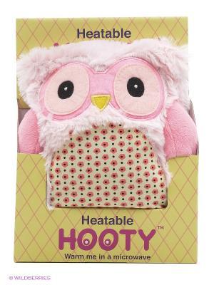 Совенок-грелка Hooty Warmies. Цвет: розовый