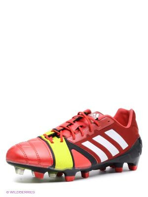 Бутсы nitrocharge 1.0 TRX Adidas. Цвет: красный, желтый, белый
