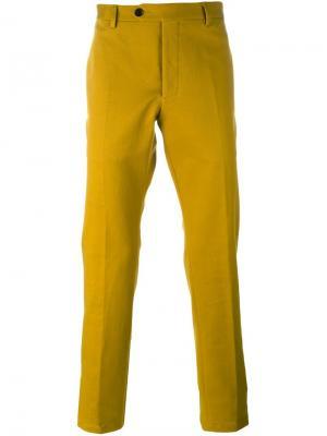 Классические брюки строго кроя Al Duca D'Aosta 1902. Цвет: жёлтый и оранжевый