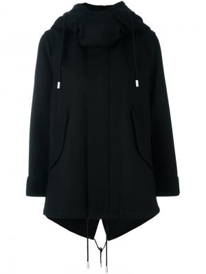 Пальто с капюшоном The Reracs. Цвет: чёрный