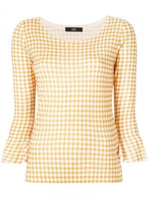 Gingham print blouse Steffen Schraut. Цвет: жёлтый и оранжевый