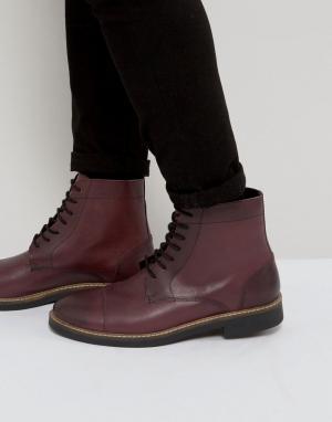 Frank Wright Блестящие ботинки в стиле милитари. Цвет: красный