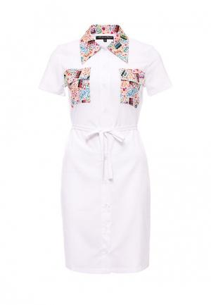 Платье Disash. Цвет: белый