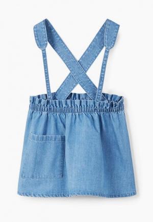 Платье джинсовое Mango Kids. Цвет: синий