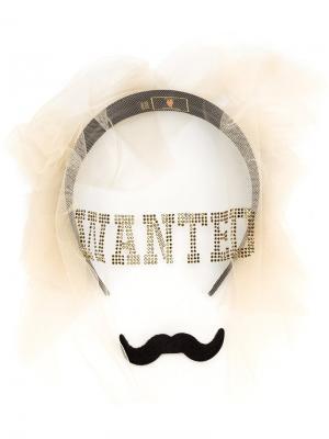Wanted Moustache veil Piers Atkinson. Цвет: чёрный