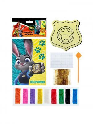 Фреска-открытка, Зверополис Disney. Цвет: черный, желтый, зеленый, золотистый, коралловый, лазурный, малиновый, молочный, оранжевый, синий