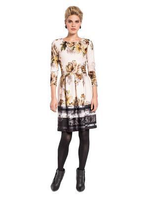 Платье APART. Цвет: кремовый, черный, коричневый, сиреневый