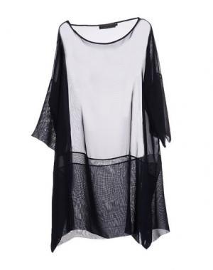 Блузка MARIA CALDERARA. Цвет: темно-синий